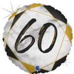 Фольгированная цифра 60 черный
