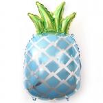 Фольгированный ананас голубой