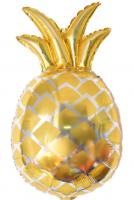 Фольгированный ананас золотой