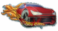 Фольгированный шар гоночная машинка красный