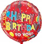 Фольгированный шар С Днем рождения ленты