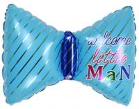 Фольгированный шар бантик голубой