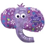Фольгированный шар голова слона фиолетовый
