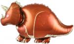Фольгированный шар динозавр трицератопс