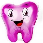 Фольгированный шар зубик розовый
