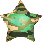 Фольгированный шар камуфляж зеленый