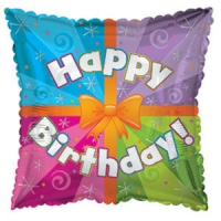 Фольгированный шар квадрат С Днем Рождения (подарок)
