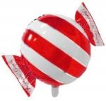 Фольгированный шар конфета красная