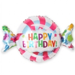Фольгированный шар конфета с днем рождения