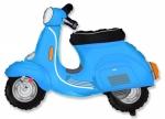 Фольгированный шар скутер голубой