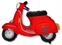 Фольгированный шар скутер красный