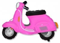 Фольгированный шар скутер розовый