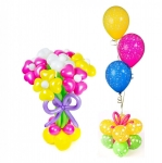 Букет из воздушных шаров с фонтаном