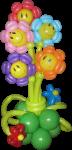 Букет из воздушных шаров цветы улыбки