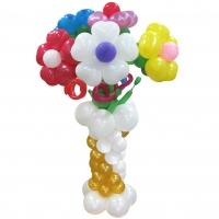 Букет из воздушных шаров в вазе