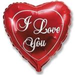 """Большое фольгированное сердце """"Love"""" 81 см"""