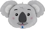 """Фольгированный шар """"Голова коала"""""""