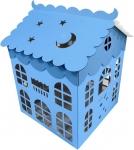 "Коробка для шаров ""Домик"" голубой"