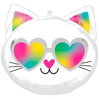 """Фольгированный шар """"Котенок в очках"""""""