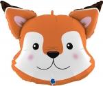 """Фольгированный шар """"Голова лисица"""""""