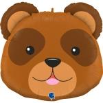 """Фольгированный шар """"Голова Медведь"""""""