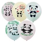 "Воздушные шары ""Панды"" макарунс"