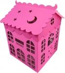 "Коробка для шаров ""Домик"" розовый"