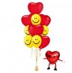 Фонтан с сердцами и ходячим сердцем
