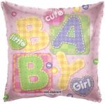 """Фольгированная подушка """"Baby girl"""""""