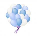Облако бело-голубых шаров