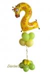 Фонтан из воздушных шаров с жирафиком