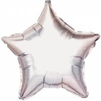 Фольгированный шар звезда серебряный