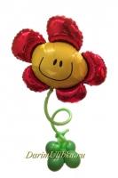 Цветочек из воздушных шаров на ножке