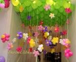 Воздушные шары с гелием и цветами