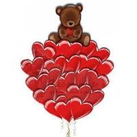 """Набор из воздушных шаров """"сердца и мишка"""""""