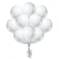 Облако белых шаров