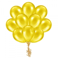 Облако желтых металлик шариков