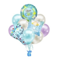 """Букет из воздушных шаров """"Ура сын родился"""""""