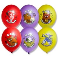 Воздушные шары с Днем рождения Винни Пух