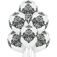 """Воздушные шары """"Дамаск"""" белые"""