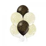 """Воздушные шары """"Барокко"""" черные, белые, ванильные"""