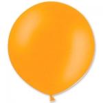 Большой шар с гелием оранжевый