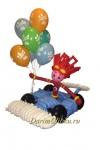 """Фигура из воздушных шаров """"Файер на машине"""" Фиксики"""