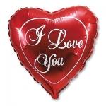 Фольгированный шар сердце I love you