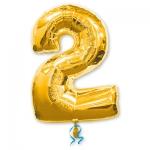 Цифра 2 золотая