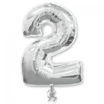 Цифра 2 серебряная