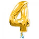 Цифра 4 золотая