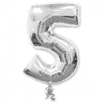 Цифра 5 серебряная