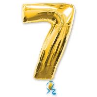 Цифра 7 золотая