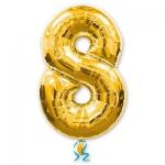 Цифра 8 золотая